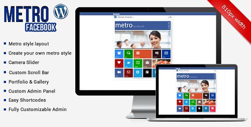 Metro Facebook Timeline WordPress Template