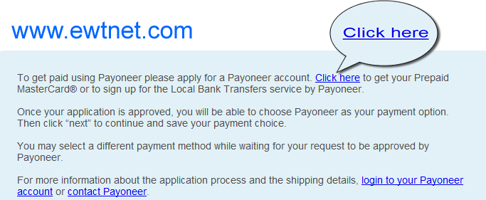 Get paid using Payoneer on Infolinks