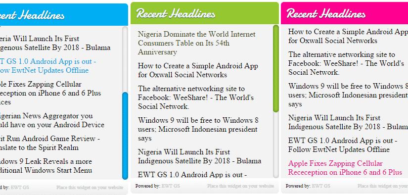 EwtNet Fancy Latest News Widget for Websites - EwtNet