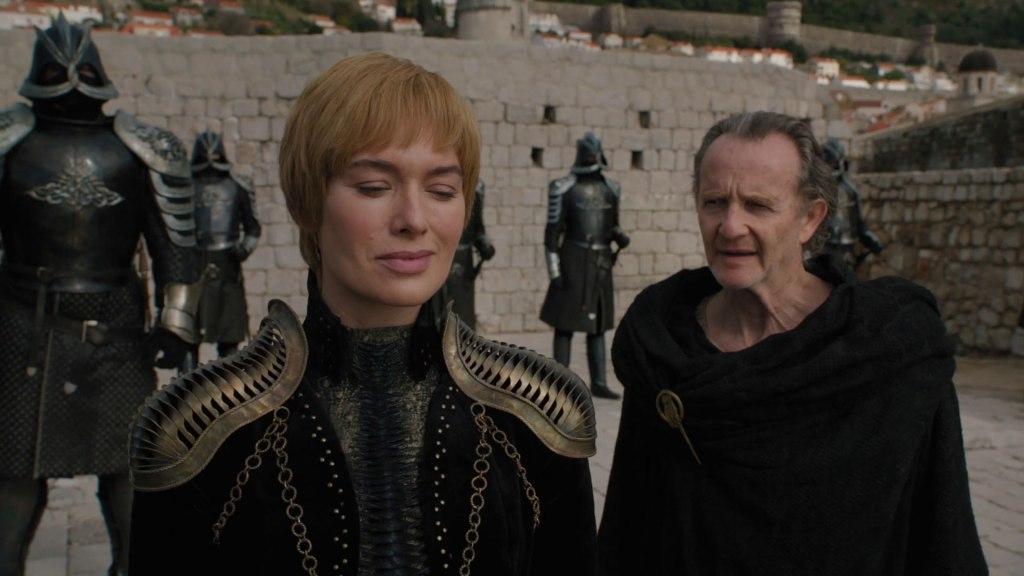 Cersei smiles when she heard the Night King has broken through the wall.