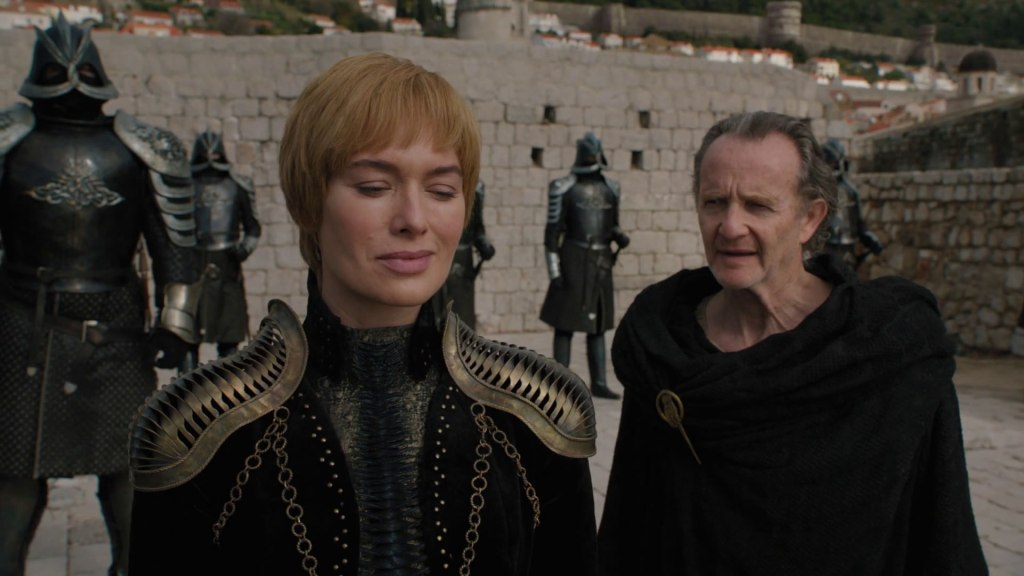 Cersei smiles when she heard the Night King has broken through the wall.