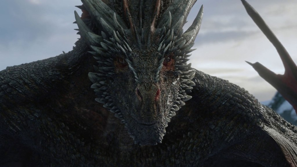Drogon watches with keen interest as Danny and Jon Snow make out in Game of Thrones Season 8 Premier.