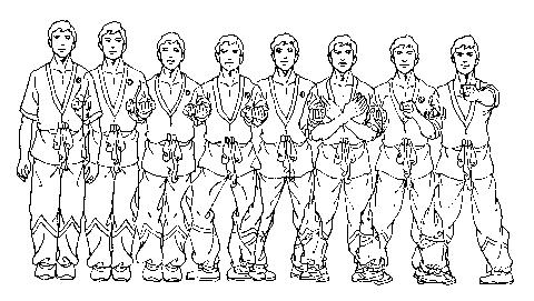 Siu Nim Tao Form gezeichnet