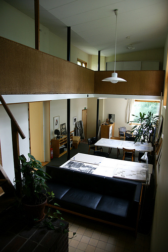 The Aalto House - design room アアルト自邸 暖炉のある設計室