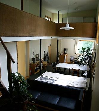 The Aalto House – design room アアルト自邸 暖炉のある設計室