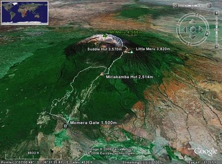 06tanzania: Mt.Meru climbing 4thdday 01 タンザニア メルー登山 4日目