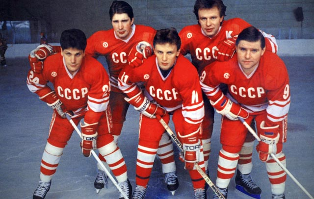 Soviet Red Army Team Photo, Fetisov top right
