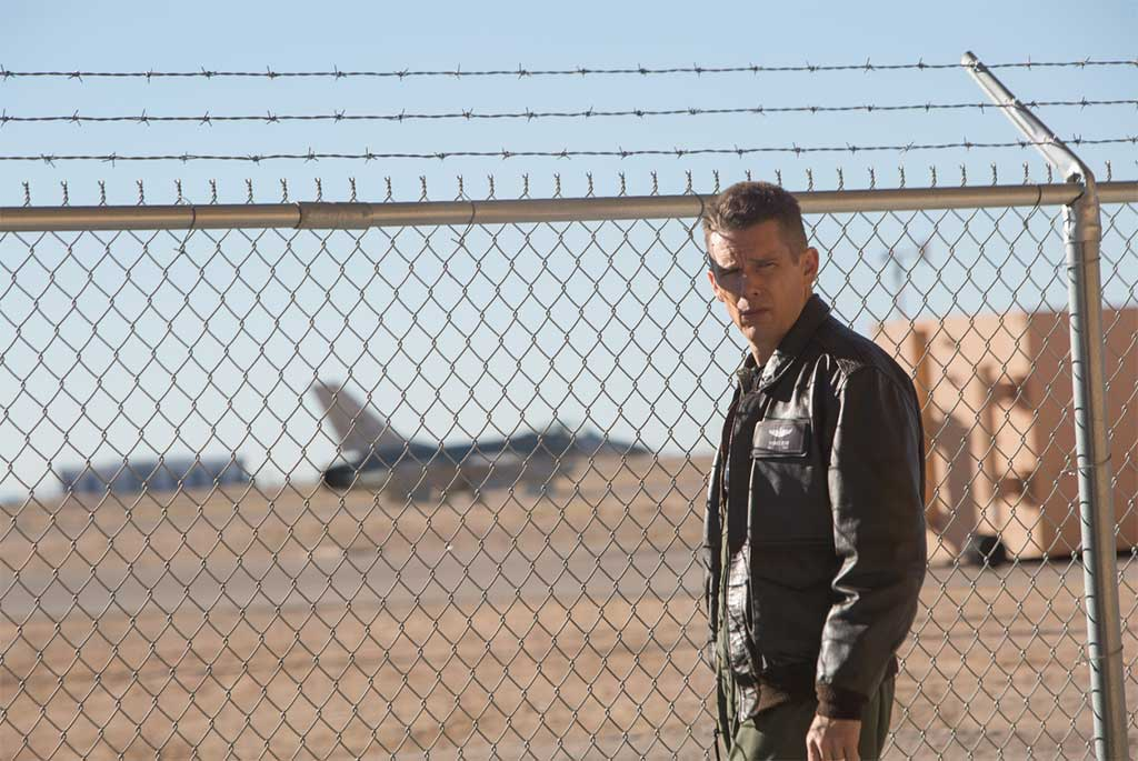 Ethan Hawke stars as a fighter pilot suffering an existential crisis in Andrew Nicole's Good Kill