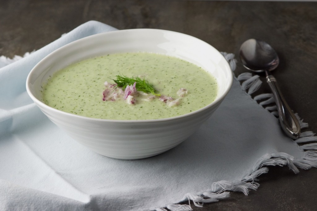 Cucumber Soup makes a delicious treat. Louise Crosby photo.