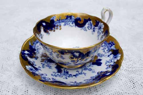 A beautiful cup and saucer, part of a collection from Louise Crosby's mom