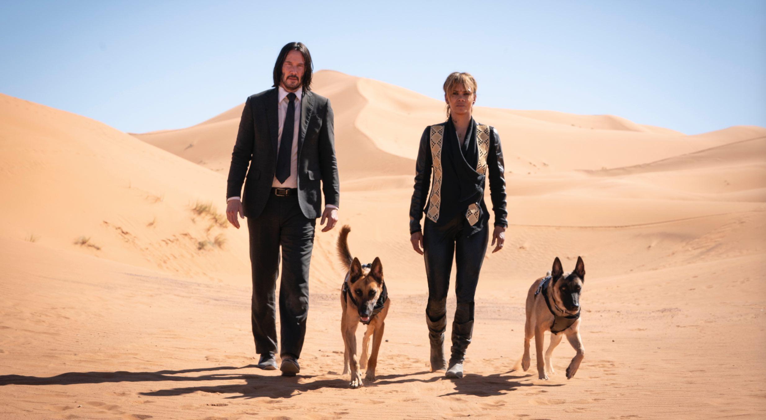 John Wick Keanu Reeves Halle Berry dogs