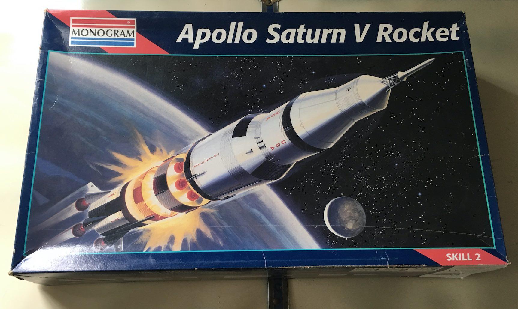 Saturn V scale model rocket