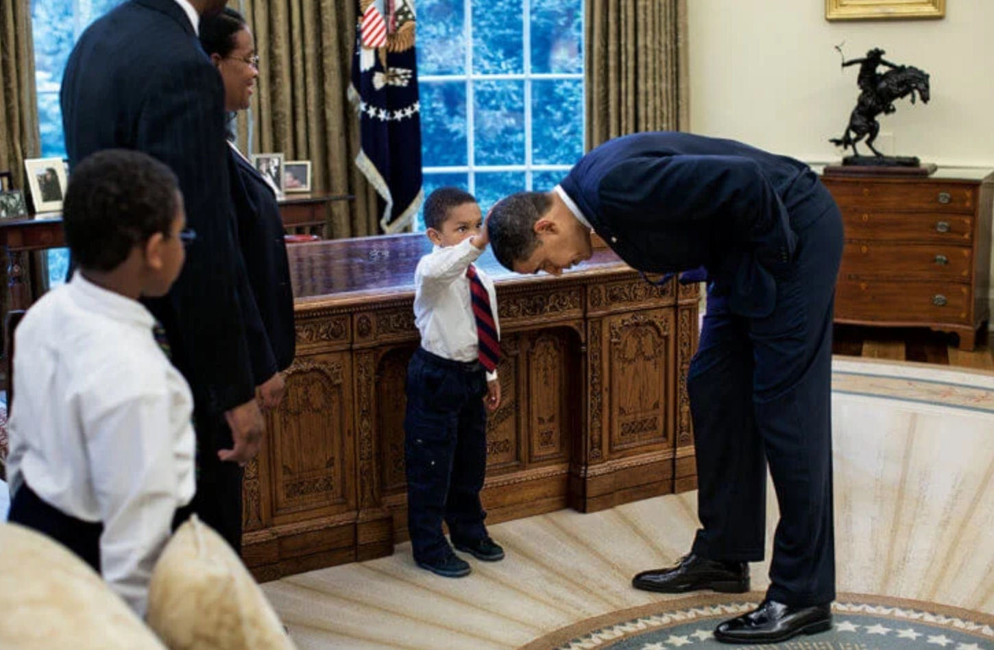 The Way I See It Pete Souza President Obama boy hair