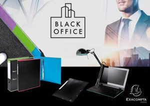 Black Office filing stationery products by Exacompta
