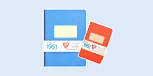 Clairefontaine 'Back to Basics' 1951 vintage classic notebook stationery range