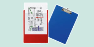 Exacompta Clipboards for writing on the move, available from ExaClair Limited