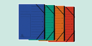 Exacompta Multipart File Organisers, available from ExaClair Limited