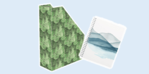 Clairefontaine 'La Vie en Vosges' stationery collection featuring filing and notebooks