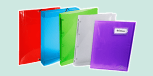 Exacompta Crystal clear filing stationery collection, available from ExaClair Limited