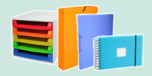 Exacompta Linicolor transluscent stationery collection available from ExaClair Limited