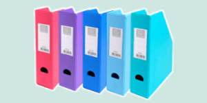 Exacompta magazine files and racks for storage, available from ExaClair Limited