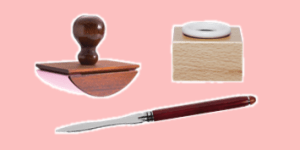 Herbin writing accessories such as inkwells, blotters and knives