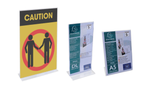 Exacompta Plastic Sign Holders for Business Messages and Reception Areas