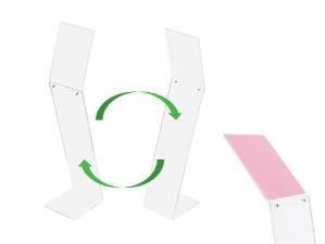 Exacompta Freestanding Acrylic Sign Display Stand (Code: 82058D)