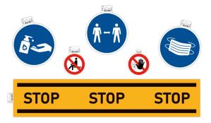 Exacompta Adhesive Safety Signage for Businesses