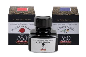 350th Anniversary Herbin Ink Bottles including Rouge Caroubier, Perle Noire and Violette Pensée