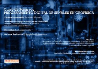 Curso de Posgrado: Procesamiento Digital de Señales en Geofísica
