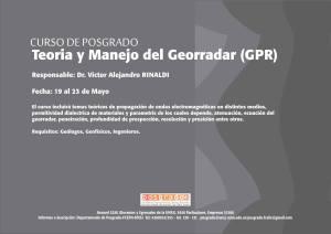 Teoría y Manejo del Georradar (GPR)