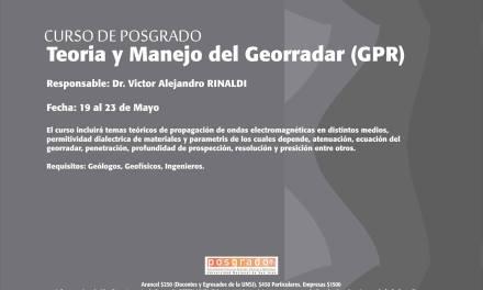 Curso de Posgrado: Teoría y Manejo del Georradar (GPR)