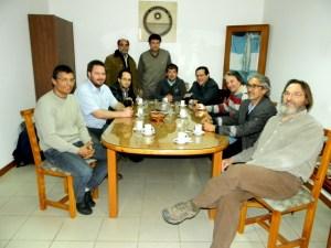 Autoridades de la Universidad de la Punta y de la FCEFN