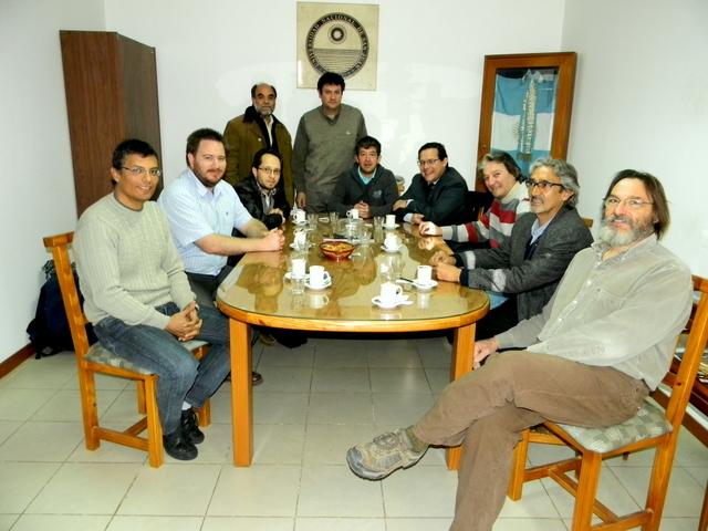 Autoridades de la Universidad de la Punta visitaron la FCEFN