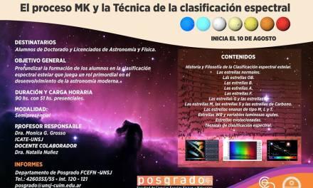 Curso de posgrado: El proceso MK y la técnica de clasificación espectral