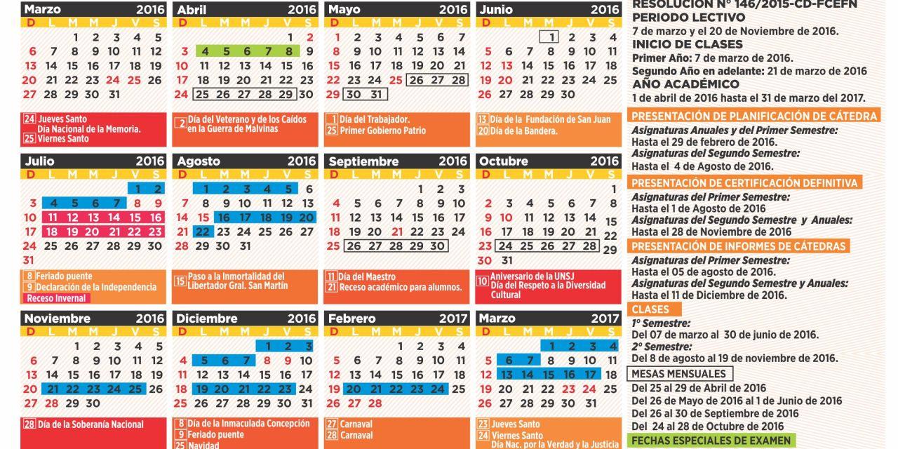 Calendario Académico 2016-2017 y plazos de reválidas