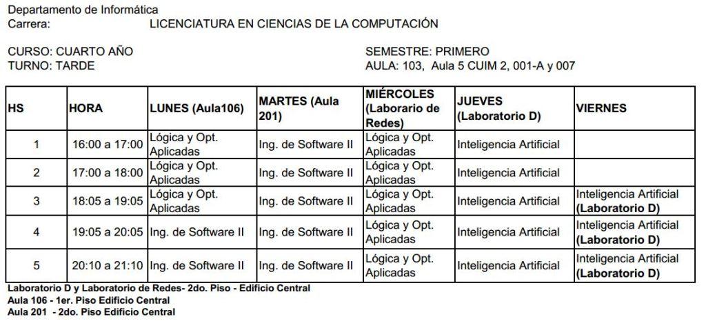 informática 4º año tarde 2011
