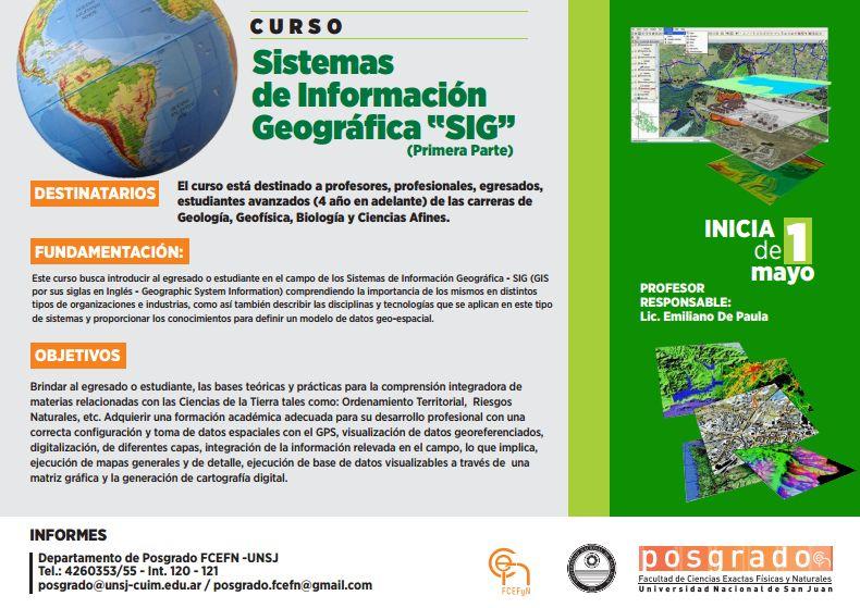 Posgrado: Sistemas de Información Geográfica ¨SIG¨  (I Parte)