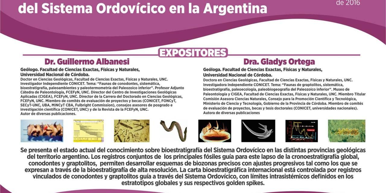Conferencia sobre Bioestratigrafía de conodontes y graptolitos