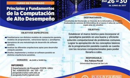 Principios y Fundamentos de la Computación de alto desempeño