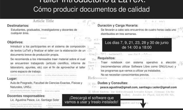 Taller introductorio a La TeX: Cómo producir documentos de calidad