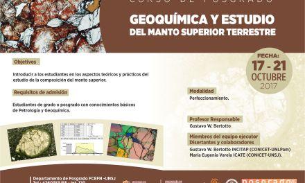 Curso: Geoquímica y estudio del manto superior terrestre