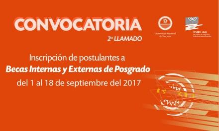 Convocatoria para becas internas y externas de Posgrado 2017