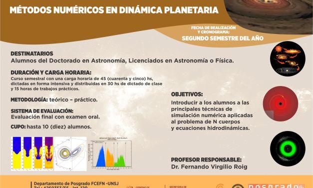 Posgrado: Métodos numéricos en dinámica planetaria