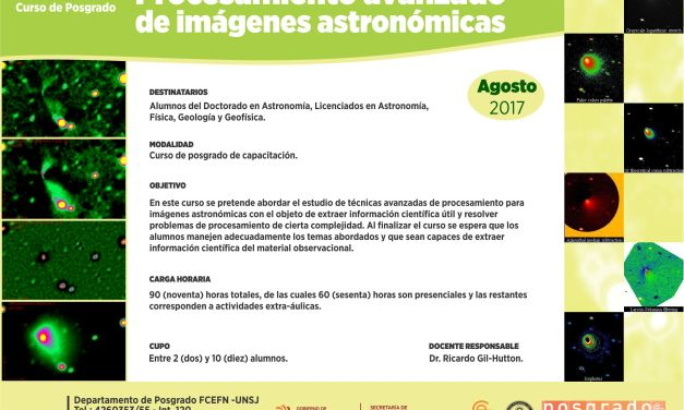 Posgrado: Procesamiento avanzado de imágenes astronómicas