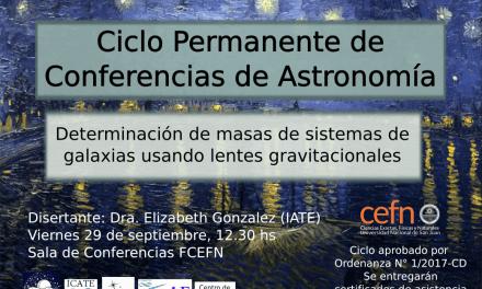 Ciclo de Conferencias de Astronomía: Determinación de masas de sistemas de galaxias usando lentes gravitacionales