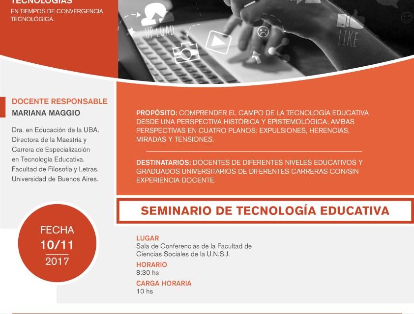 Seminario de la Diplomatura en Educación y Nuevas Tecnologías:  Tecnología Educativa