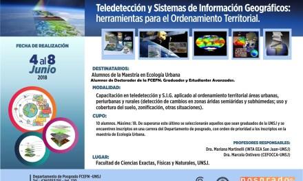 Curso de Posgrado: Teledetección  y Sistemas de Información Geográficos