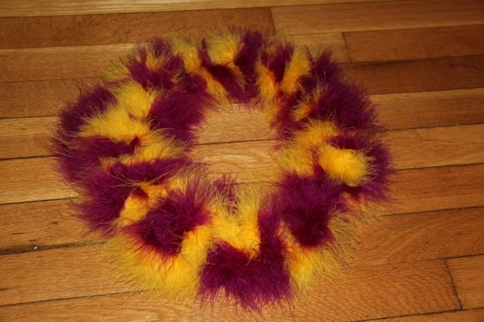 Purim table wreath 021